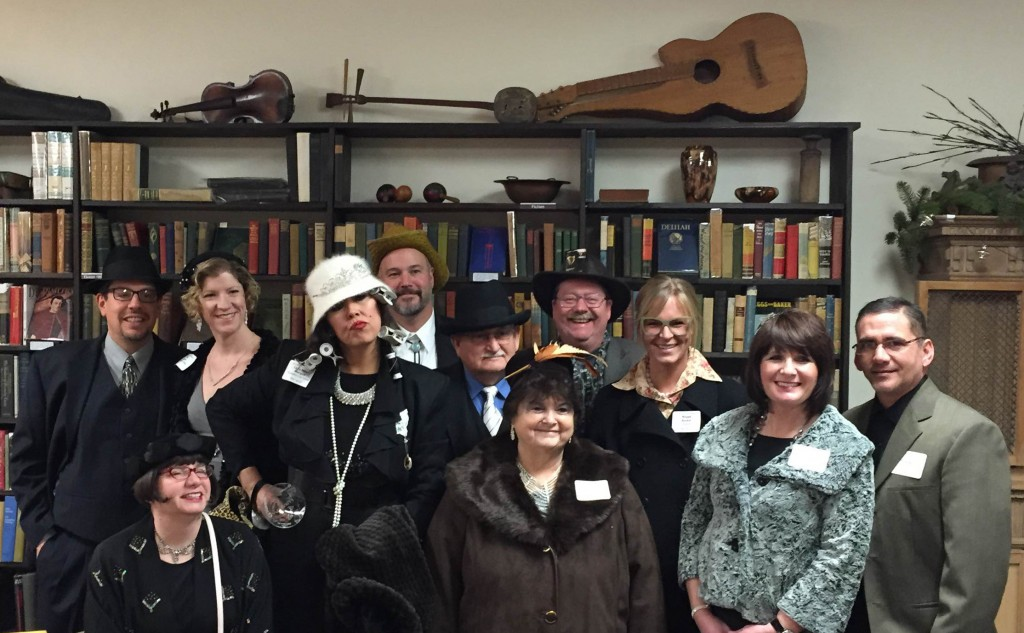 "2015 ""Whodunnit Downtown?"" Suspects and Art Walk Creator from ""The Curious Case of the Kidnapped Cat"" at Hart's Fine Books"