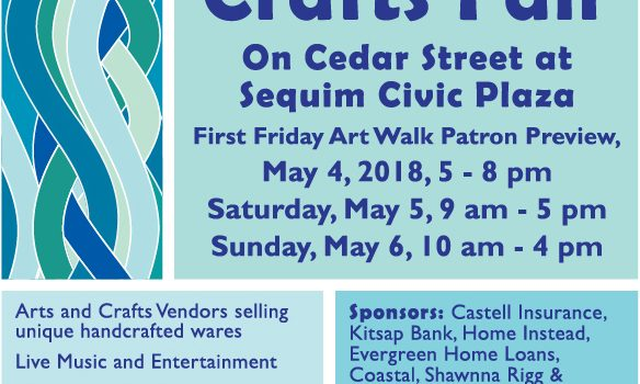 May 4 First Friday Art Walk Sequim Aqua Color Themed Celebrates Culture and Cultivation