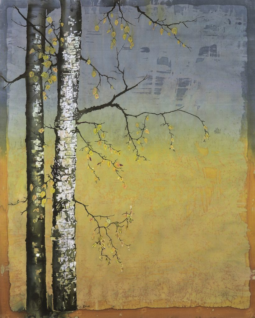 """Birch in a Golden Field"" by Carolyn Doe"