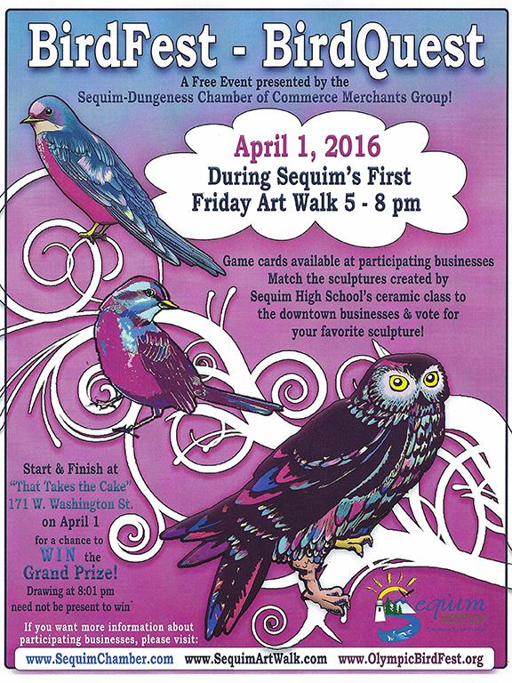 """2016 BirdFest-BirdQuest Poster"" by Debra J. Faustini"