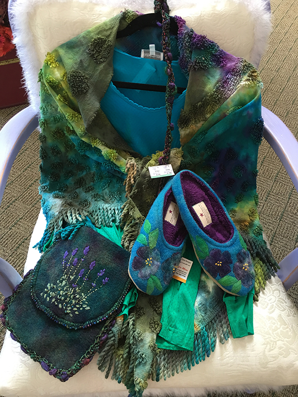The Bag Ladies of Sequim upcycled art and apparel