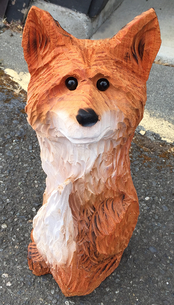 Chainsaw Art Fox at The Dreamers WoodsChainsaw Art Fox at The Dreamers Woods