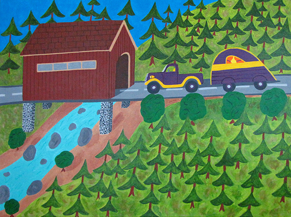 """Covered Bridge"" by Jean Wyatt"