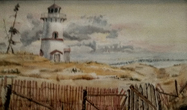 D.R. Anderson painting of a lighthouse