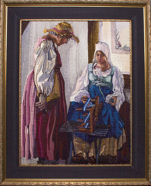 """Conversation at the Renaissance Faire"" by Diane Wolf at the ""Transformative Style – Originality, Revolution, & Repute"" Exhibition"