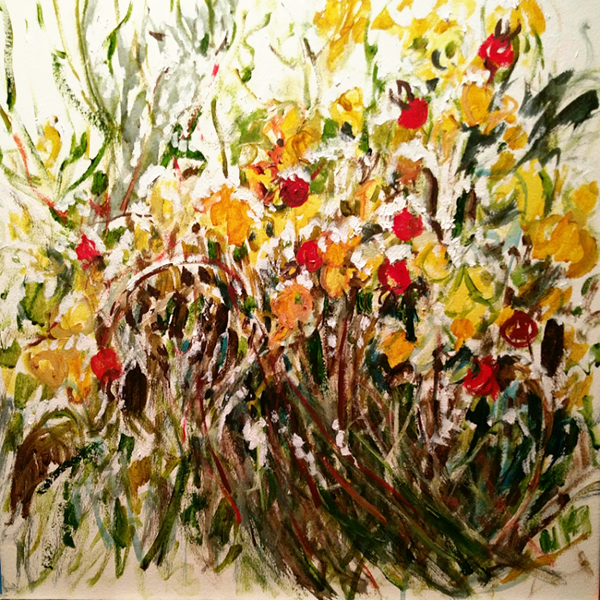 """Fresh Snow on the Rose Hip Hedge"" by Lynne Armstrong"