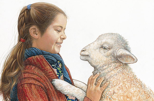 """Girl and Lamb"" by Richard Jesse Watson"