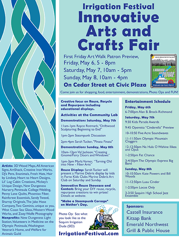 Innovative Arts and Crafts Fair at Sequims's Irrigation Festival