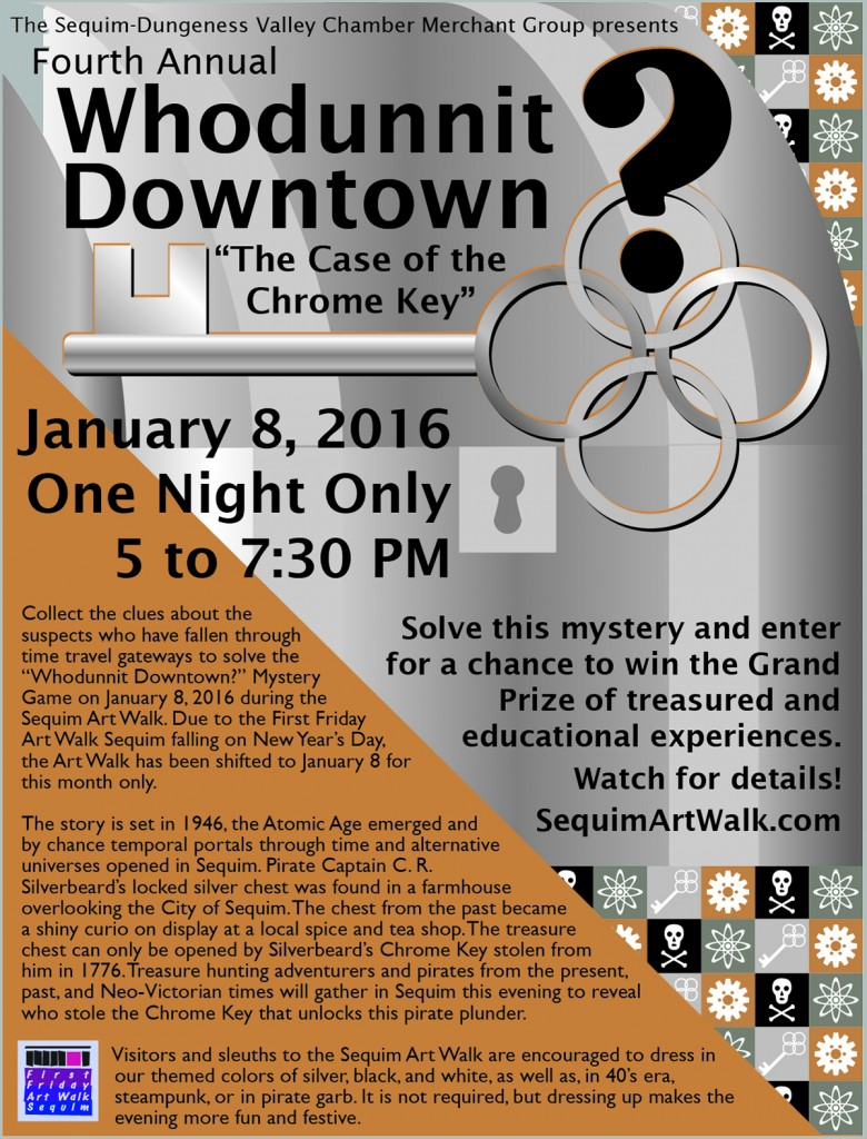 "2016 ""Whodunnit Downtown?"" Mystery Game Preview Poster"
