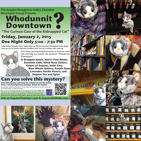 """Whodunnit Downtown?"" Where is Martini the cat?"