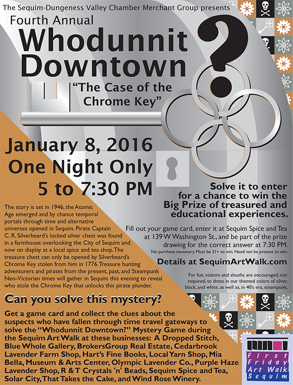 "Poster for Forth Annual ""Whodunnit Downtown?"""