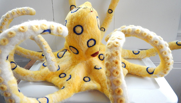"Felted ""Octopus"" by Terri Biondolino"