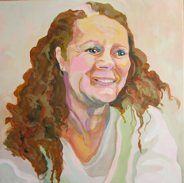 Pamela Hastings portrait painting