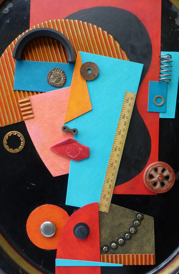 """Portrait of an Artist Assemblage"" by Karin Anderson"