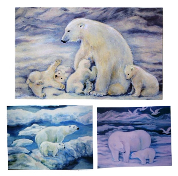 """Polar Bear illustrations"" by Reiko Yamaguchi Barclay"