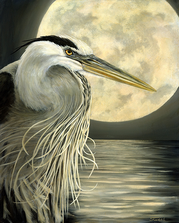 """Heron Moon"" by Sandy Tweed"