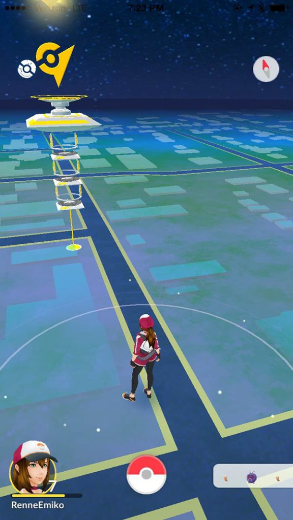 Team Instinct FTW at Downtown Sequim Pokémon Go Gym