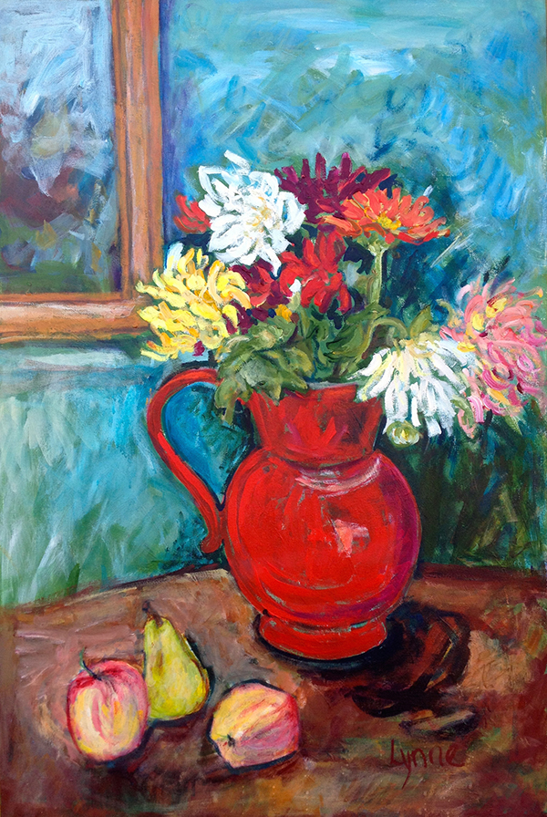 """The Red Pitcher"" by Lynne Armstrong"