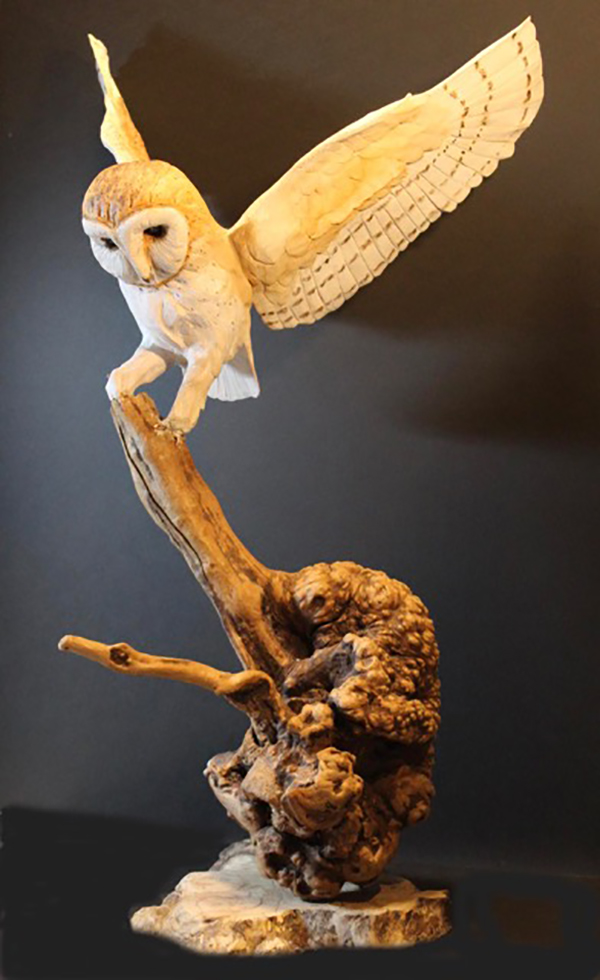 """Time Spirit - barn owl"" by Joyce Volmut"