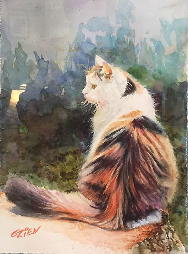 watercolor by George Zien