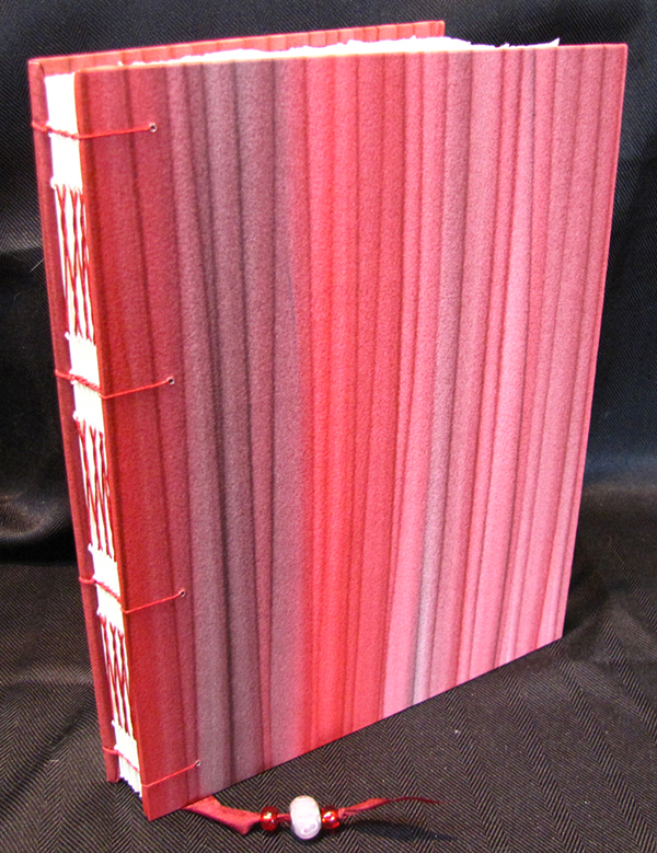 handmade red journal by Jean Wyatt