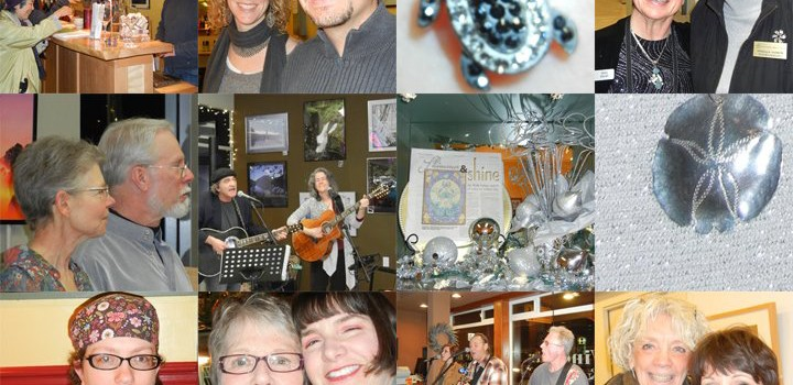 Sparkle and Shine Together with the Silver Color Theme for January 6 Sequim Art Walk