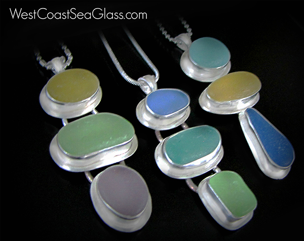 """West Coast Sea Glass Necklaces"" by Mary Beth Beuke"