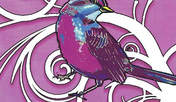 BirdFest-BirdQuest poster detail by Debra Faustini